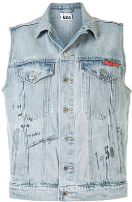 Izzue Sleeveless Denim Gilet