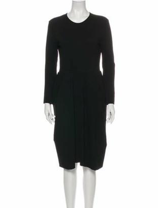 Celine Crew Neck Knee-Length Dress Black
