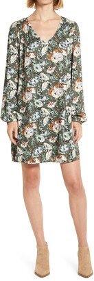 Treasure & Bond V-Neck Long Sleeve Shift Dress