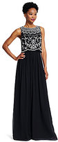 Adrianna Papell Beaded Georgette Ball Gown