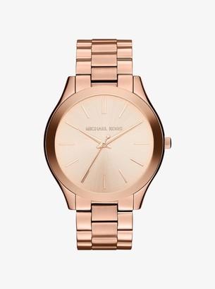 Michael Kors Oversized Slim Runway Rose Gold-Tone Watch