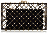 Charlotte Olympia Linear Pandora Black and Gold Clutch