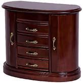 Mele Heloise Wooden Jewelry Box in Walnut