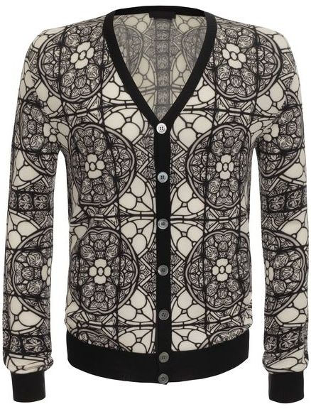 Alexander McQueen Stained Glass Print Cardigan