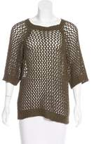Etoile Isabel Marant Open-Knit Short Sleeve Top