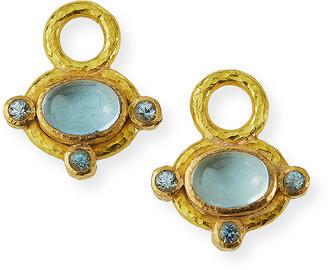 Elizabeth Locke 19k Aquamarine Earring Pendants