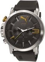 Puma Men's Ultrasize And Yellow Silicone Chronograph Watch PU103981003