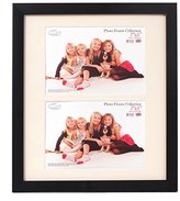 Inov-8 Inov8 British Made Traditional Picture/Photo Frame, Satin Black, 12x10 inch with Two 7x5 inch Aperture Inset, 1PK