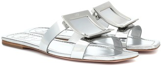 Roger Vivier Biki Viv' metallic leather slides