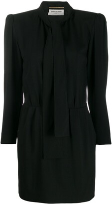 Saint Laurent Structured Shoulder Dress