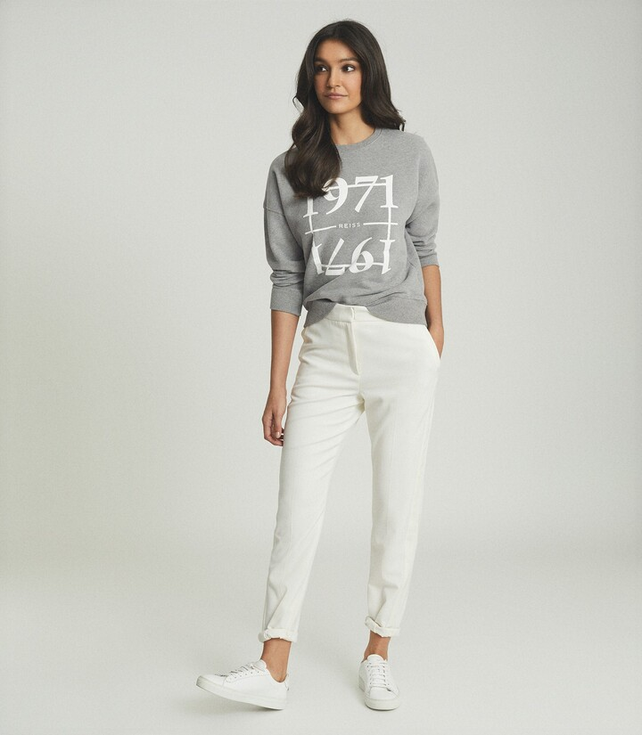 Thumbnail for your product : Reiss Aimee - 1971 Graphic Loungewear Sweatshirt in Grey