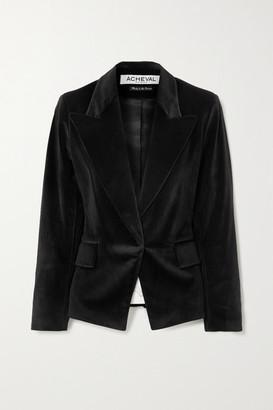 ÀCHEVAL PAMPA Gardel Velvet Blazer - Black