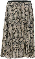 By Malene Birger snake print pleated skirt
