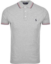 Ralph Lauren Tipped Custom Polo T Shirt Grey