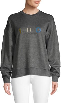 Iro . Jeans Logo Pullover Sweatshirt
