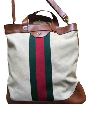 Gucci Ecru Cloth Bags