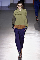 3.1 Phillip Lim Boxy Pullover Sweater with Marled Sleeves