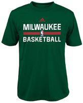 adidas Boys 8-20 Milwaukee Bucks climalite Practice Tee