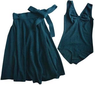 Green Cotton Veronique Leroy Dress for Women