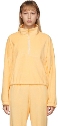 Gil Rodriguez SSENSE Exclusive Yellow Terry Diana Half-Zip Sweatshirt