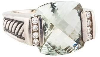 David Yurman Prasiolite & Diamond Cocktail Ring