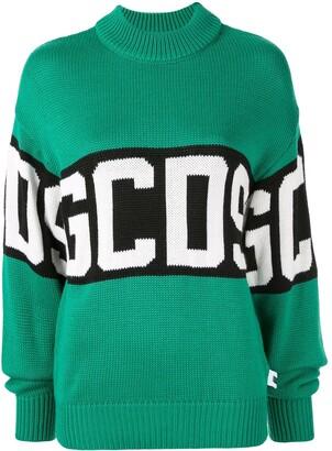 GCDS logo jacquard jumper