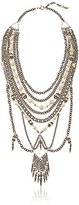 "Ettika The White Turquoise Statement Brass Necklace, 17"" + 1.5"" Extender"