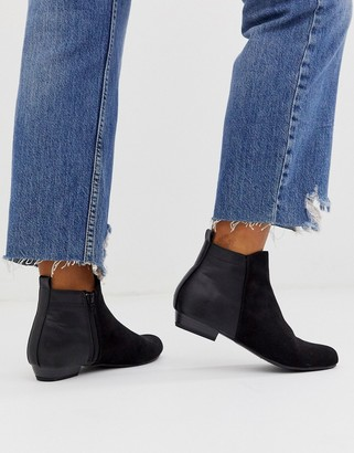 Head Over Heels By Dune Perey black flat ankle boot