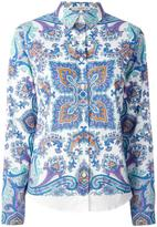 Etro all over print shirt - women - Cotton/Spandex/Elastane - 44