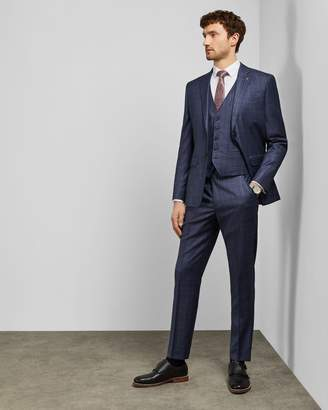 Ted Baker Debonair Checked Wool Trousers