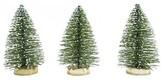 Threshold Small Bottlebrush Trees - Green Set of 3