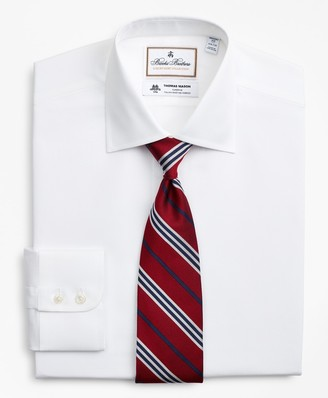Brooks Brothers Luxury Collection Regent Fitted Dress Shirt, Franklin Spread Collar Fine Stripe