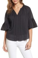 Velvet by Graham & Spencer Women's Bell Sleeve Cotton Blouse