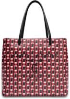 Marc Jacobs EW Logo Shopper Bag in Red Split Cow Leather