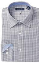 Nautica Mini Check Regular Fit Dress Shirt