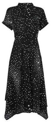 Dorothy Perkins Womens **Billie & Blossom Black Star Print Shirt Midi Dress, Black