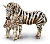 Jay Strongwater Tabitha & Zane Mother and Baby Zebra Figurine