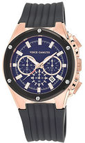 Vince Camuto Mens Rose Goldtone and Silicon Strap Watch