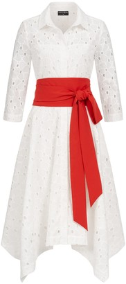Marianna Déri Laura Shirt Dress Lace With Two Belts