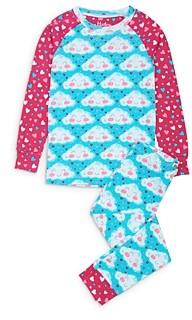Hatley Girls' Cheerful Clouds Cotton Pajamas - Little Kid, Big Kid