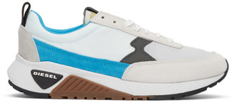 Diesel White and Blue S-KB Low Sneakers