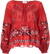 Tanya Taylor embroidered peasant blouse - women - Cotton - 4