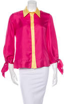 Prada Silk Colorblock Top w/ Tags