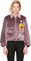Miu Miu Purple Velvet Fox & Jack Jacket