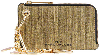 Marc Jacobs Metallic Leather Charmed Chain Coin Purse