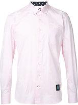 GUILD PRIME logo patch shirt - men - Cotton - 1