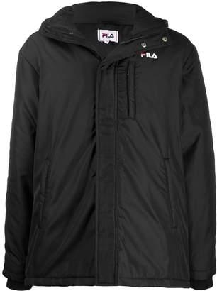 Fila logo stripe hooded coat