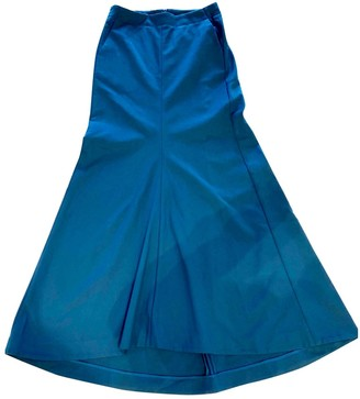 Tibi Blue Cotton - elasthane Skirt for Women