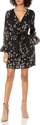 Just Cavalli Women's Combat Eagles Print Cross Over Dress