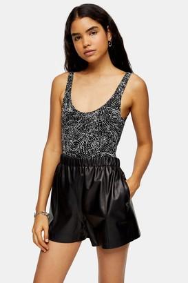 Topshop Swirl Print Bodysuit